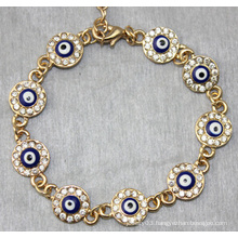Evil Eye Round Shape Diamond Bracelet (XBL13492)