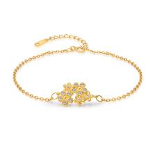 Новый цветочный браслет 925 стерлингового серебра