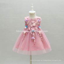 Comercio al por mayor de color púrpura con cordones Bautizo Bautizo Niñas Niño 1 Año Fiesta de Cumpleaños Vestido de Niña