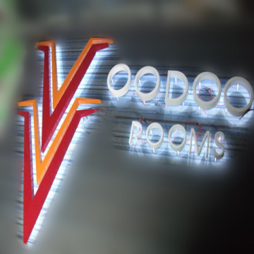 Metal Reverse LED Channel Letters Fabrication Kostnad