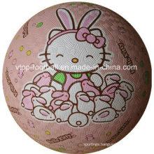 Hello Kitty Pink Rubber Playground Ball for Kids