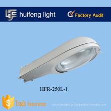 Lâmpada de sódio 250W de luz de rua de alumínio ao ar livre cinza