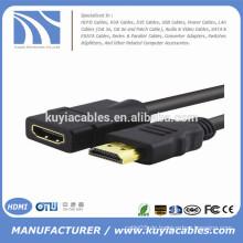 Schwarzes 5FT HDMI Kabel Ausdehnbares Mann M zu Frau F