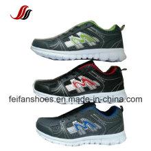 Chaussures de sport pour hommes respirant la dernière conception, chaussures athlétiques de chaussures, chaussures de course en gros