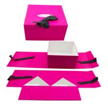 Caja de regalo plegable de papel de cartón rígido