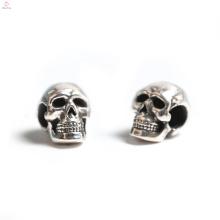 Atacado Cabeça Bone 3D Silver Sennit Pulseira DIY Bead Jóias Crânio Charme