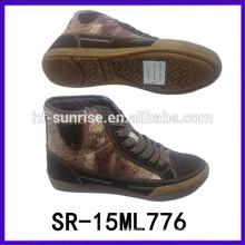 Новые стильные высокие шеи кожаные ботинки высокой шеи обувь для мужчин мужская обувь случайные