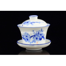 Popular Blue Plum Blossom tea cup sets and saucer wholesale
