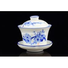 Popular Blue Plum Blossom tea cup sets and saucer wholesale