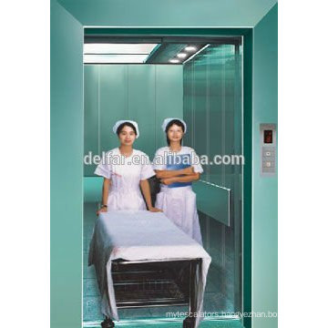 Delfar safe and large hospital elevator with cheap price