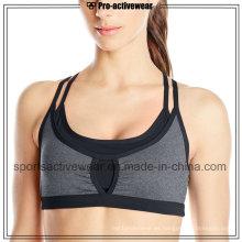 OEM Hot vendiendo la tela de encargo de las mujeres Sexy Sports Yoga Bra