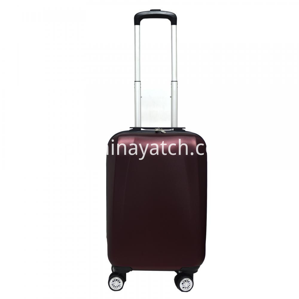 wine red ABS suitcase