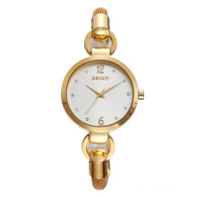 Latest WEIQIN delicate gold bracelet watch fancy watches ladies