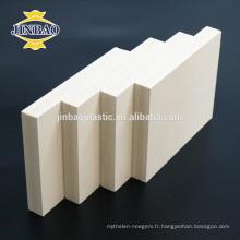 Feuille de mousse en plastique de PVC de matériel de meubles de PVC de JINBAO 1220X2440mm