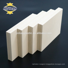 JINBAO 1220X2440mm Furniture Material PVC Wood Plastic Foam Sheet