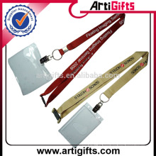 Wholesale cheap polyester lanyard with card