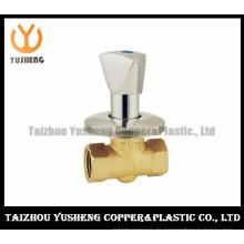 Kupfer-Absperrschieber aus Messing mit verchromtem Griff (YS6004)