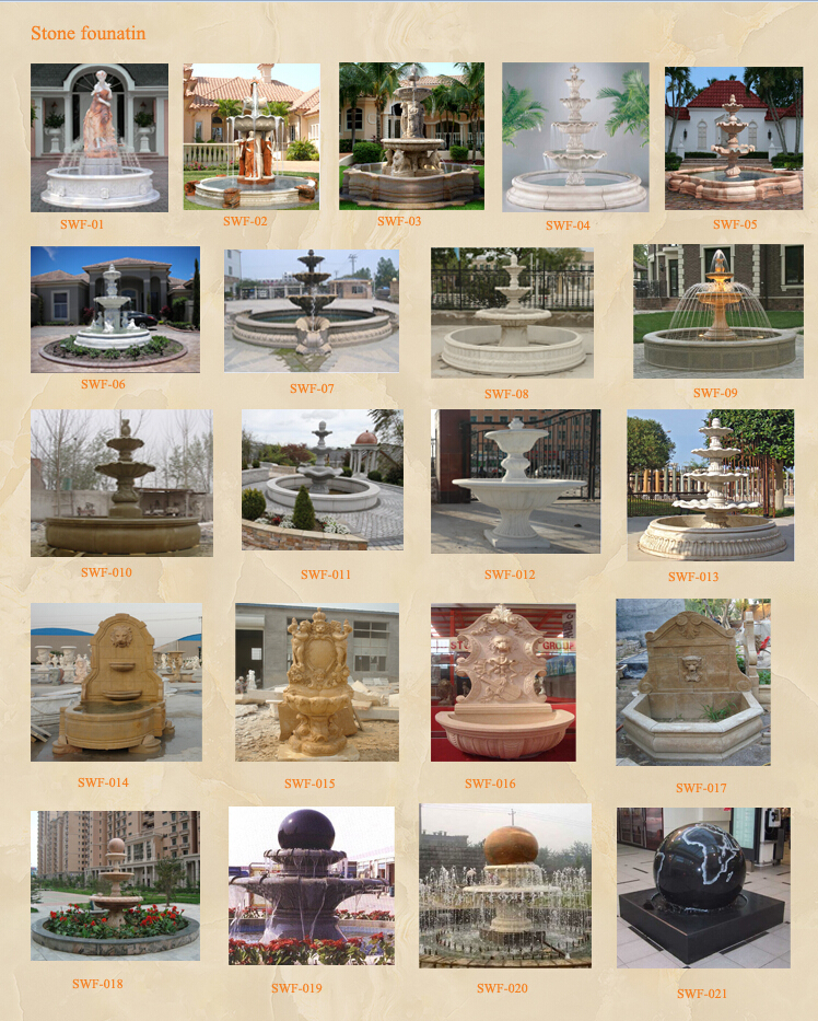 stone water fountain