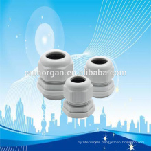 IP68 water-proof nylon66 white cable glands connector with UL94V-2 , flat washer ,CE approval