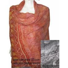 Cashmere Silk Net Print Shawl(IMG-0088)