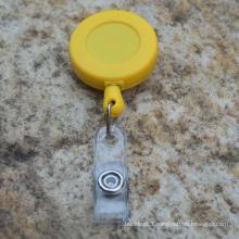 Retractable plastic badge reel yoyo card holder