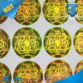 Pegatina anti-falsificación de los pescados del laser de la alta calidad