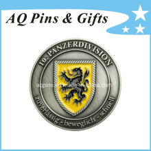 Moneda de plata antigua del desafío de la alta calidad con el esmalte (coin-089)