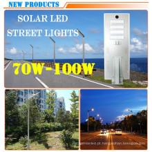 Lâmpada de rua solar de poupança de energia do diodo emissor de luz da potência alta 100W toda em um