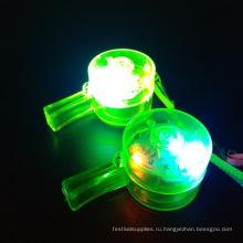 Многоцветные оптом светящиеся игрушки светодиодные свисток