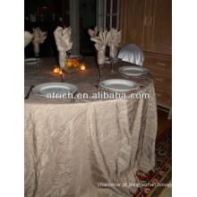 Tafetá elegante da dobra a toalha de mesa para casamento e banque