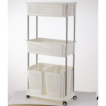 3 Tier Large Capacity Moving Laundry Basket