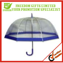 Clear Dome style transparente PVC paraguas