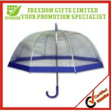 Guarda-chuva transparente do PVC do estilo claro de Dome