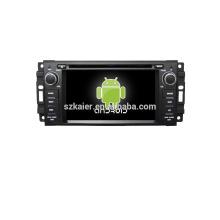 Quad core! Voiture dvd avec lien miroir / DVR / TPMS / OBD2 pour 6.2 pouces écran tactile quad core 4.4 système Android JEEP / CHRYSLER / DODGE