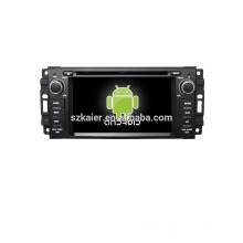 Quad core!car dvd with mirror link/DVR/TPMS/OBD2 for 6.2 inch touch screen quad core 4.4 Android system JEEP/CHRYSLER/DODGE