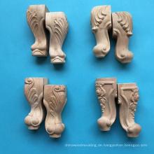 Geschnitzte hölzerne Tischbein, Möbelfuß, Sofa-Beine