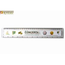 Logo Printed Promotional Student Transparent Plastic Ruler in 15cm 20cm 30cm