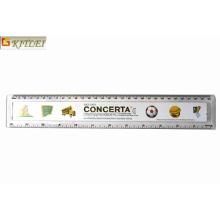 Logotipo impresso estudante promocional régua de plástico transparente em 15cm 20 centímetros 30 centímetros