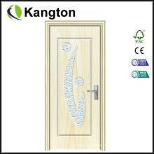Puertas de madera de PVC de vidrio para cocina (puerta de vidrio de PVC)