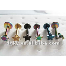 stainless steel labret lip piercings titanium lip jewellery
