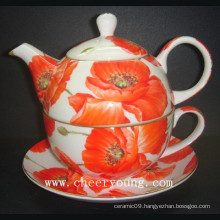 3PCS Bone China Tea Pot Set (CY-B601)