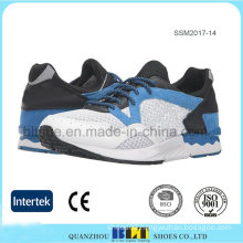 Men′s Mesh Upper Lace up Running Shoe