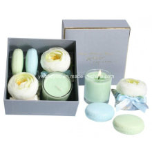 Sachets with Macaron Soaps and Candle Gift Set