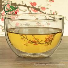 Buena disipación de calor Matcha Bowl Chawan Doble pared de vidrio Bowl