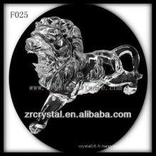 Cristal sculpté à la main lion en cristal animal