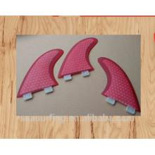 design de modelo hexadecimal design rosa G5 G7 FCS barbatanas de surf sistema atacado