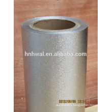 Embossed and laminated aluminum foil roll for food
