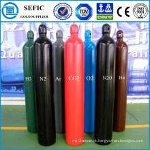 Cilindro de gás industrial de aço sem costura de alta pressão 40L (ISO9809-3)