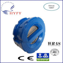 Outdoor practical resilient seat wafer dual plate check valve