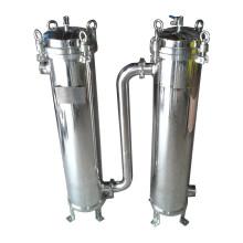 Equipamento frente e verso do tratamento da água do alojamento de filtro do Único-Saco